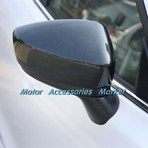 Carbon Fiber Style Rearview Mirror Cover Trim For Mazda 3 2014 2016