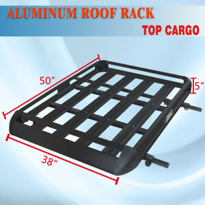 50 x38 Roof Cargo Luggage Carrier Rack Basket Crossbar Fit Vehicle Side Rails