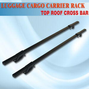 48 Universal Ajustable Suv Roof Top Cross Bar Rail Luggage Cargo Carrier Rail