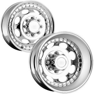 Set Of 6 Vision 181h Hauler Dually 19 5 8x6 5 Chrome Wheels Lugs Included