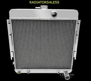 New Champion 3 Row Aluminum Radiator 63 64 65 66 Dodge Dart Valiant 6cyl