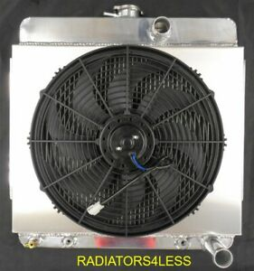 Champion 3 Row Aluminum Radiator Shroud 16 Fan 63 64 65 66 Dodge Dart Valiant