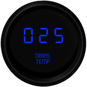 Blue Led Digital Transmission Temperature Gauge Intellitronix Trans Black Bezel