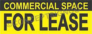 2 x5 Commercial Space For Lease Banner Outdoor Sign Real Estate Property Retail