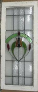 Large Old English Leaded Stained Glass Window Gorgeous Abstract 17 75 X 43