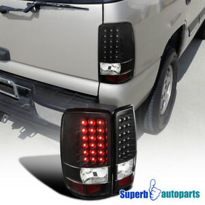 For 2000 2006 Yukon Denali Tahoe Suburban Led Black Tail Lights Brake Lamps