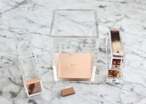 Rose Gold Acrylic Office Accessory Set