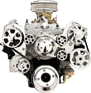 Billet Specialties Tru Trac Pontiac 326 455 Front Engine Kit alternator a c Comp