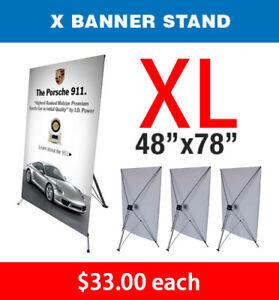 X Banner Stand Tripod Trade Show Display Large 48 X 78 Qty 4