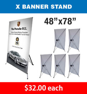 X Banner Stand Tripod Trade Show Display Large 48 X 78 Qty 6