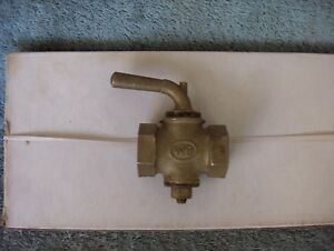 Steam Air Whistle Brass 3 4 Barrel Shut Off Valve Wb New Old Stock