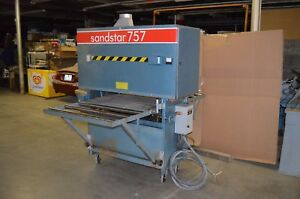 Sandstar 757 Wide Belt Sander Industrial Sanding W Infeed Outfeed Tables