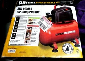 3 Gallon Air Compressor 100psi 1 3 Hp Oilless Electric Portable Maintenance Free