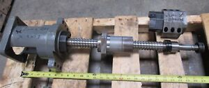 X Axis Ball Screw Assembly Approx Oal 27 From Daewoo Puma 200 Cnc Lathe