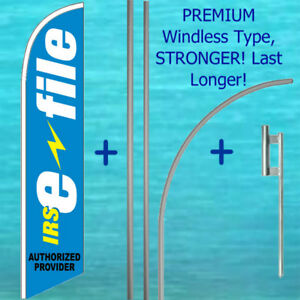 Irs E file Windless Feather Flag 15 Premium Pole Mount Kit Income Tax Banner