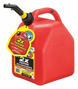 Scepter Gas Can Red 5 Gal 14 51 64 H Plastic Red Plastic 10445