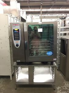 Rational Scc 102g Gas Combi Oven On Stand Selfcookingcenter Refurbished