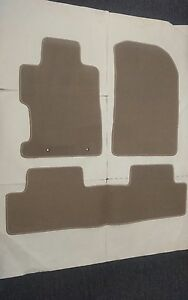 For 06 11 Honda Civic 2 4dr Floor Mat Carpets Beige Nylon