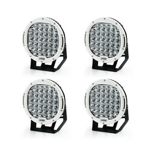 Xprite 4pcs White 96w 9 Cree Led Driving Work Lights Round For Truck Jeep 4wd
