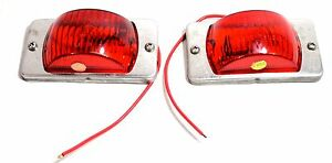 Lot Of 2 Vintage Motorcycle Turn Signal Lights Moped