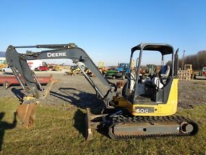 2013 John Deere 50g Excavator Orops Hyd Thumb Blade Rubber Tracks 1 620hrs
