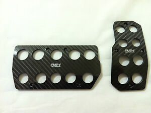 Toyota Scion Racing Carbon Fiber Automatic Gas brake Cover Foot Pedals Pads A t