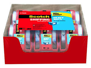 Scotch Clear Shipping Packing Tape 3m 1 8x800 6 Rolls W Dispenser Heavy Duty