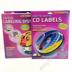 Avery Stomper Cd dvd Labeling System Complete Kit Labels Pack 98107