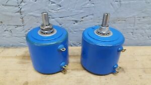 Lot Of 2 Bourns 3400s 1 501 500 Ohm Wire Wound Potentiometer New