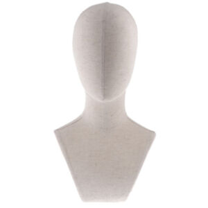 Plastic Male Mannequin Manikin Head Jewelry Wigs Glasses Hat Display Stand