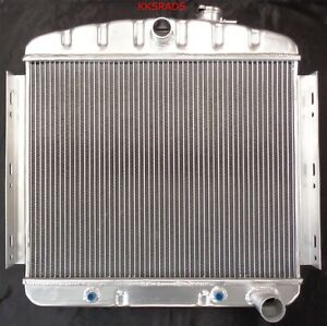 3 Row Kks Motorsports Radiator 1955 1956 Chevy Belair Bel Air 6cyl Core Support