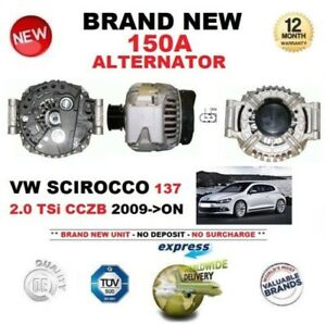 For Vw Scirocco 137 2 0 Tsi Cczb 2009 on New 150a Alternator Eo Quality