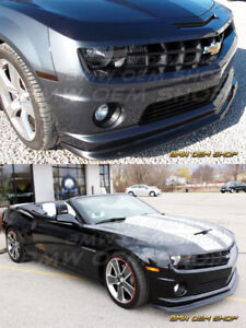 2010 13 Black Painted Chevrolet Chevy Camaro 5 V8 Zl1 Type Front Lip Spoiler
