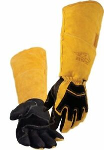 Revco Bsx Premium Pigskin cowhide Back Long Cuff Stick Welding Gloves Bs99 L
