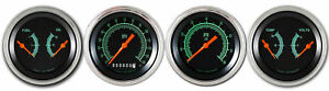 Classic Instruments G Stock Series 4 Gauge Set Flat Glass Gs05slf kph Kph Speedo