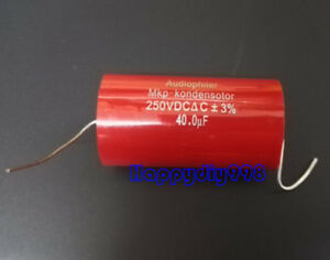 6pcs Audiophiler Mkp Audio Capacitor 250v 40uf