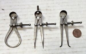 L s Starrett Mini 2 1 2 Inside And Outside Calipers And Divider