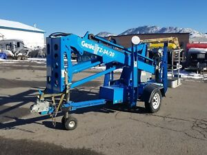 Genie Tz34 20 Towable Manlift W self Leveling Outriggers
