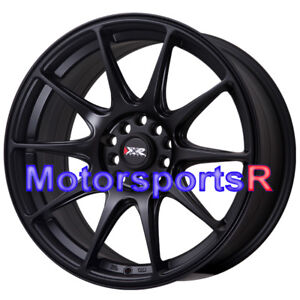 Xxr 527 18 Flat Black Staggered Rims Concave Wheels 5x4 5 04 Ford Mustang Cobra