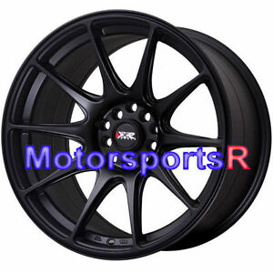 Xxr 527 18 Flat Black Staggered Rims Wheels Concave 5x114 3 Fits 08 350z Nismo