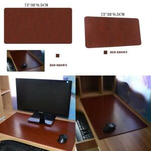 Leather Mouse Pad 28 15 0 2 Inch Office Desk Extent Gaming Mat Red Brown Color