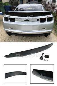 For 10 13 Chevrolet Camaro Rear Trunk Zl1 Style Wing Lip Spoiler W Wicker Bill