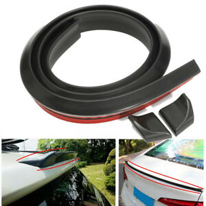 4 9ft 1 5m Universal Car Roof Trunk Spoiler Wing Lip Trim Sticker Fit Front Rear
