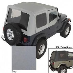 Rugged Ridge Charcoal Replacement Soft Top 1988 1995 Jeep Wrangler Yj W Tinted