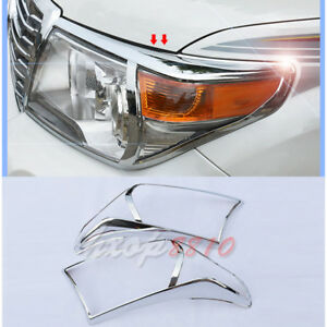 For Toyota Land Cruiser Lc200 2012 2015 Abs Chrome Front Head Light Cover Trim