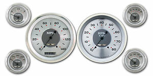Classic Instruments All American Original Series 6 Gauge Set Aw51src Speedo Tach