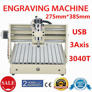 3 Axis Usb 3040 Cnc Router Milling Engraver Engraving Cutting Drilling Machine