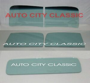 Green Tint Glass 1938 1939 Ford Pickup Truck Windshield Door Back