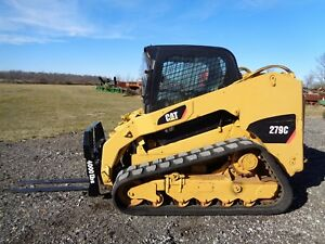 2011 Caterpillar 279c Skid Steer Cab heat air 2 Speed Pilot Controls 2 439hr