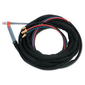 Tig Torch Water Cooled Kit Angled Head 25 Ft Cable